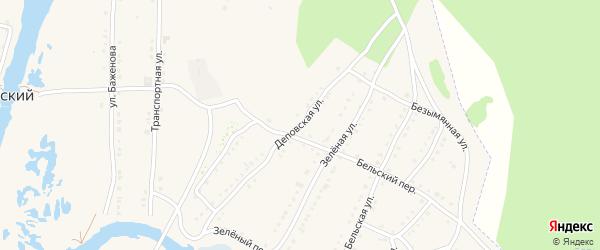 Деповская улица на карте села Тирлянского с номерами домов