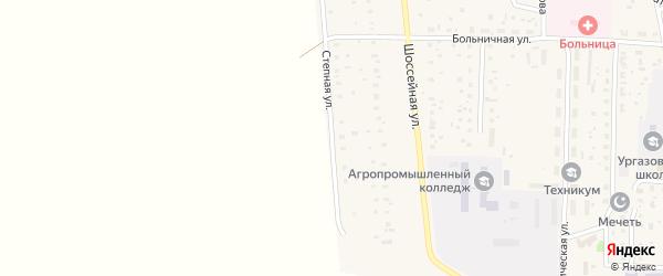 Степная улица на карте села Ургазы с номерами домов