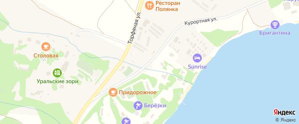 Курортная улица на карте деревни Зеленая Поляна с номерами домов