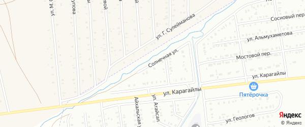 Солнечная улица на карте Сибая с номерами домов