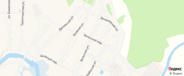 Бельский переулок на карте села Тирлянского с номерами домов