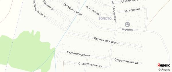 Первомайская улица на карте Сибая с номерами домов