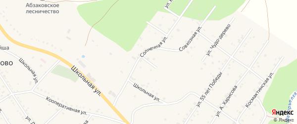 Каменный переулок на карте села Абзаково с номерами домов