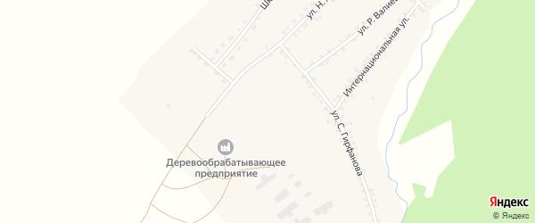 Интернациональная улица на карте села Еланлино с номерами домов