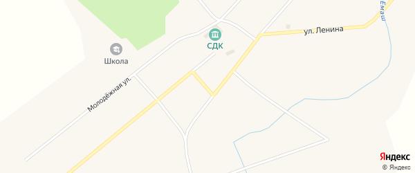 Садовый переулок на карте села Емашей с номерами домов