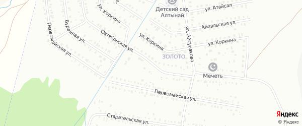 Октябрьская улица на карте Сибая с номерами домов