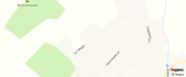 Улица Мира на карте села Емашей с номерами домов