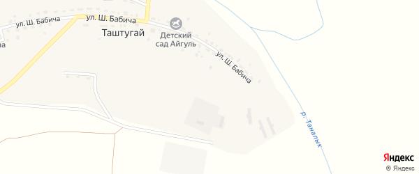 Улица Ш.Бабича на карте деревни Таштугая с номерами домов