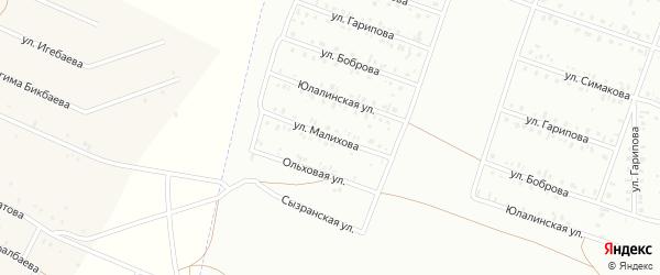 Улица Малихова на карте Сибая с номерами домов