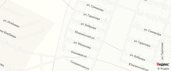 Юлалинская улица на карте Сибая с номерами домов