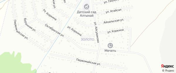 Улица Коркина на карте Сибая с номерами домов