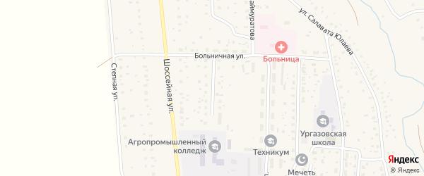 Улица 70 лет Октября на карте села Ургазы с номерами домов