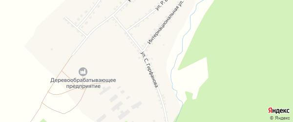 Улица С.Гирфанова на карте села Еланлино с номерами домов