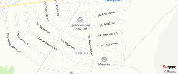 Айхальская улица на карте Сибая с номерами домов