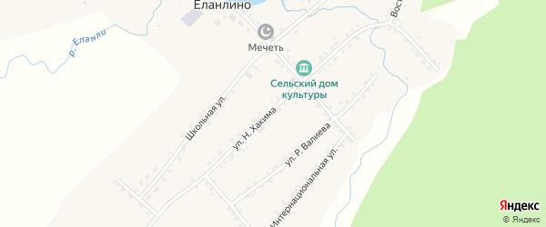 Улица Н.Хакима на карте села Еланлино с номерами домов