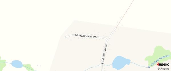 Молодежная улица на карте деревни Юлдашево с номерами домов