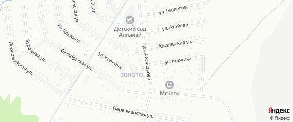 Улица Айсувака на карте Сибая с номерами домов