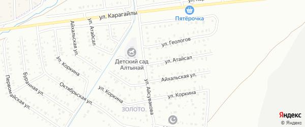 Улица Атайсал на карте Сибая с номерами домов