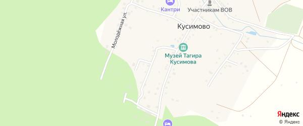 Лесная улица на карте деревни Кусимово с номерами домов
