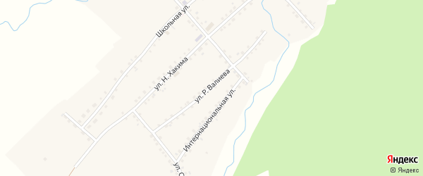 Улица Р.Валиева на карте села Еланлино с номерами домов