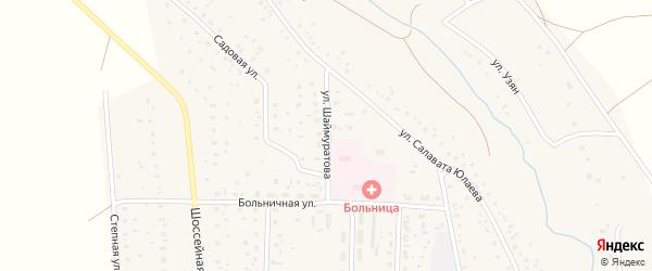 Улица Шаймуратова на карте села Ургазы с номерами домов
