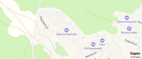 Светлая улица на карте деревни Зеленая Поляна с номерами домов