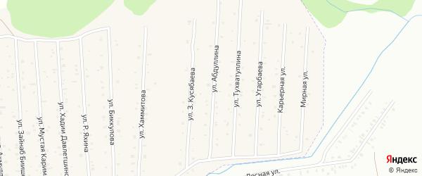 Улица А.Тухватуллина на карте села Старого Сибая с номерами домов