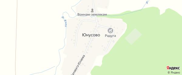 Улица Салавата Юлаева на карте деревни Юнусово с номерами домов