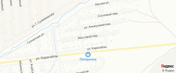 Мостовой переулок на карте Сибая с номерами домов