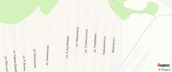 Улица С.Утарбаева на карте села Старого Сибая с номерами домов