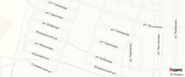 Улица Гарипова на карте Сибая с номерами домов