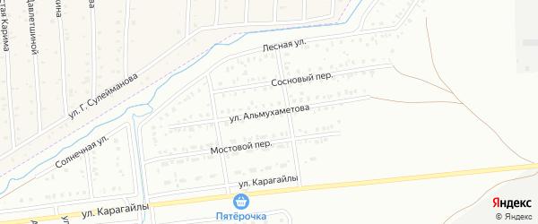Улица Альмухаметова на карте Сибая с номерами домов