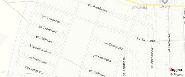 Улица Симакова на карте Сибая с номерами домов