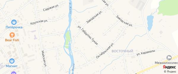 Габдуллы Тукая улица на карте села Верхние Киги с номерами домов