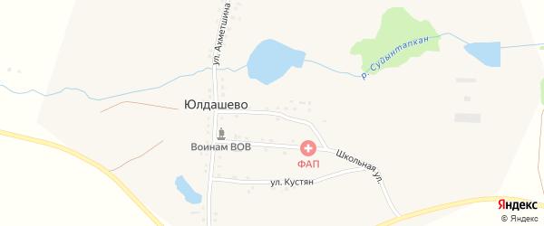 Бригадная улица на карте деревни Юлдашево с номерами домов