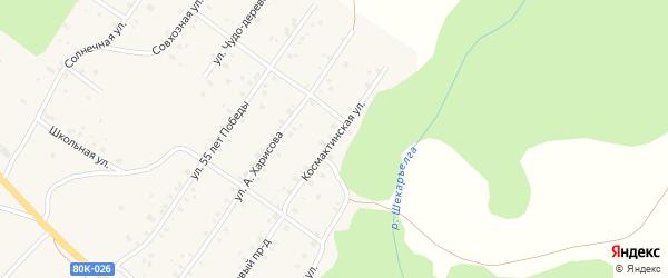 Космактинская улица на карте села Абзаково с номерами домов