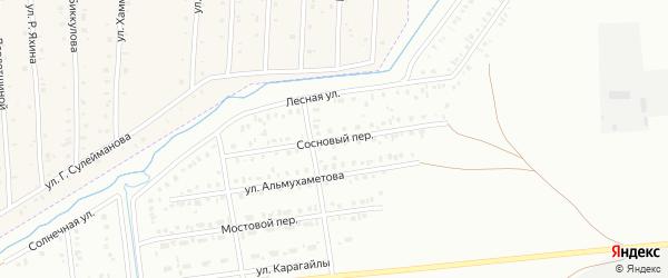 Сосновый переулок на карте Сибая с номерами домов