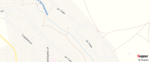 Улица Узян на карте села Ургазы с номерами домов