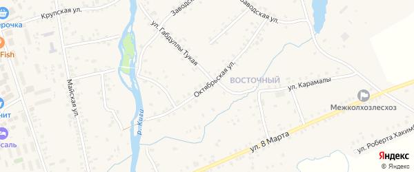 Октябрьская улица на карте села Верхние Киги с номерами домов