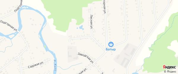 Нагорная улица на карте села Верхние Киги с номерами домов