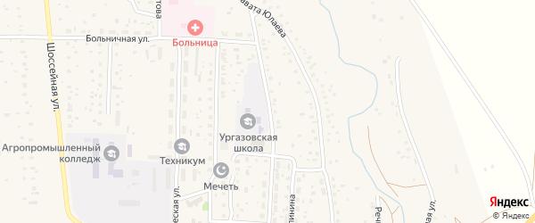 Улица Х.Давлетшиной на карте села Ургазы с номерами домов
