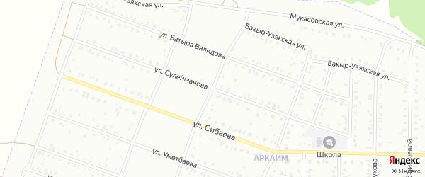 Улица Сулейманова на карте Сибая с номерами домов