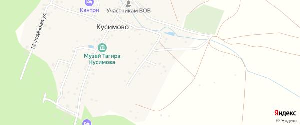Степная улица на карте деревни Кусимово с номерами домов