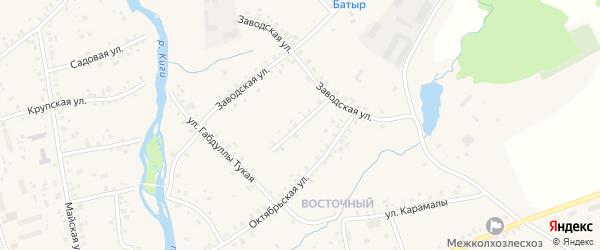 Молодежная улица на карте села Верхние Киги с номерами домов