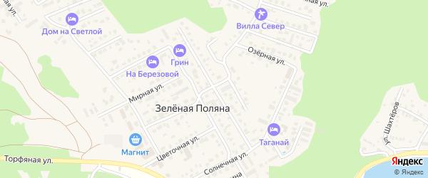 Лесная улица на карте деревни Зеленая Поляна с номерами домов