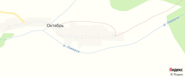 Улица Буляк на карте деревни Октября с номерами домов