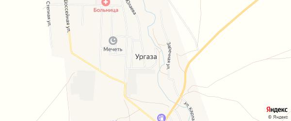 Карта села Ургазы в Башкортостане с улицами и номерами домов