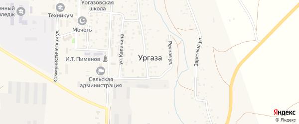 Школьная улица на карте села Ургазы с номерами домов