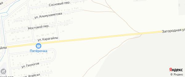 Загородная улица на карте Сибая с номерами домов