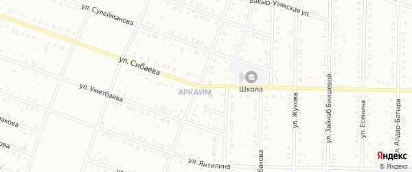 Улица Сибаева на карте Сибая с номерами домов